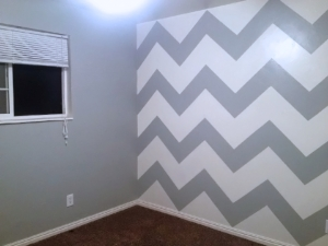 How To Measure A Chevron Accent Wall Nerd Gone Domestic